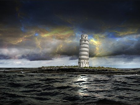 Pisa, Leaning Tower, Global Warming, Climate, Flood