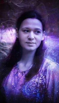 Portrait, Lilac, Retouching