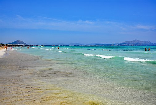 Playa De Muro, Mallorca, Balearic Islands, Spain, Sea