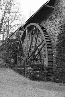 Waterwheel, Mill, Old, Watermill, Architecture, Stone