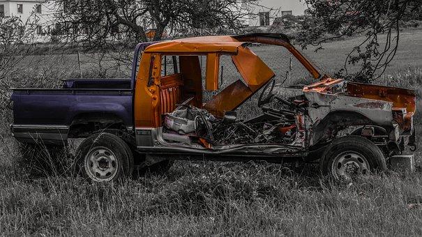 Car, Wreck, Broken, Car Wreck, Damaged, Weathered