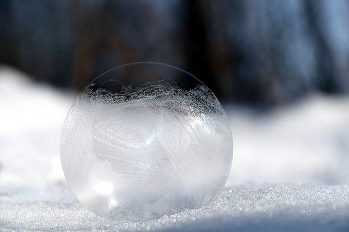 Soap Bubble, Frosted, Winter, Cold, Frost