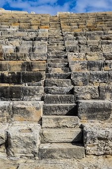 Stairway To Heaven, Stairs, Stand, Ancient Theatre