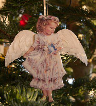 Angel, Cherub, China Painting, Christmas