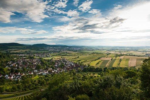Landscape, Baden-würrtemberg, Clouds, Vineyards