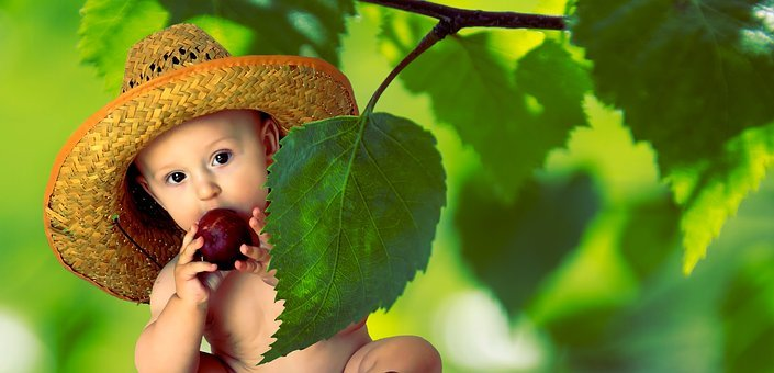 Summer, Vitamins, Fruit, Nutrition, Child, Baby