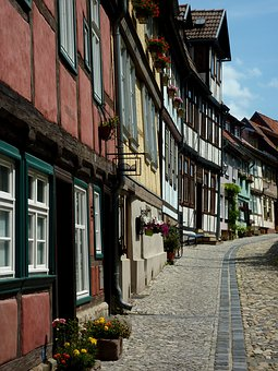 Quedlinburg, Resin, Summer, Truss, Architecture, City