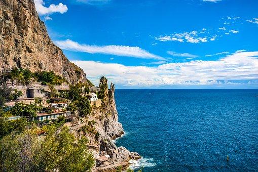 Amalfi, Coast, Italy, Italian, Mediterranean, Sea