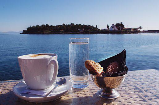 Coffee With A View, Coffee By The Sea, Greece