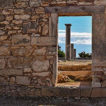 Cyprus, Apollo Hylates, Door, Columns, Sanctuary