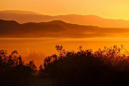 El Mirage Lake, Sunset, Mirage, Desert, California