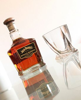 Jack Daniels, Whisky, Glass, Bottle, Alcohol, Drink