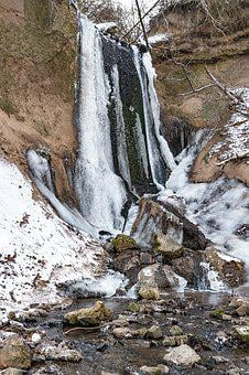Waterfall, Frozen Waterfall, Icefall, Icicle, Gorge