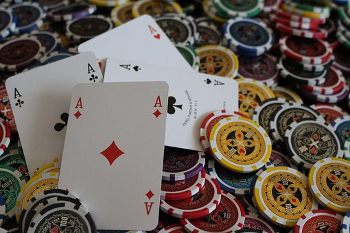 Poker, Ace, Chips, Money, Game, Color, Team, Gold, Red