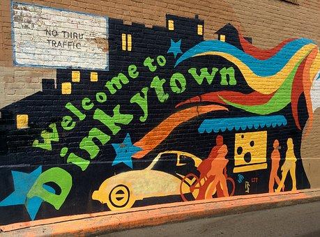 Dinkytown, Minneapolis, Mural, Wall