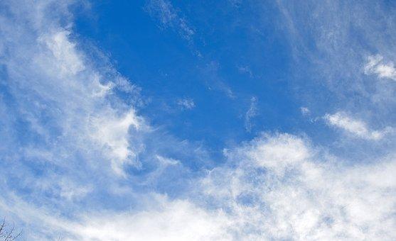 Wispy Clouds, Blue Sky, Clouds, Landscape, Nature