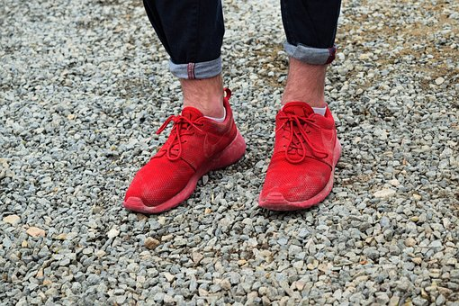 Shoes, Evening, Nike, Dust, Jeans, Red