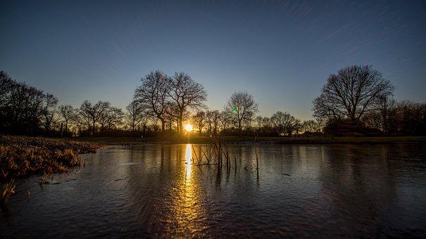 Gelsenkirchen, Golf Course, Sunset, Resser-mark, Mood