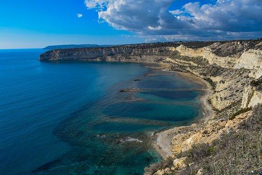 Beach, Cliffs, Sea, Coastline, Landscape, Scenic