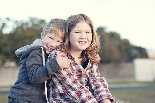 Siblings, Children, Boy, Girl, Happy, Sister, Caucasian
