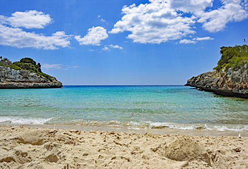 Cala Anguila, Mallorca, Balearic Islands, Spain, Sea