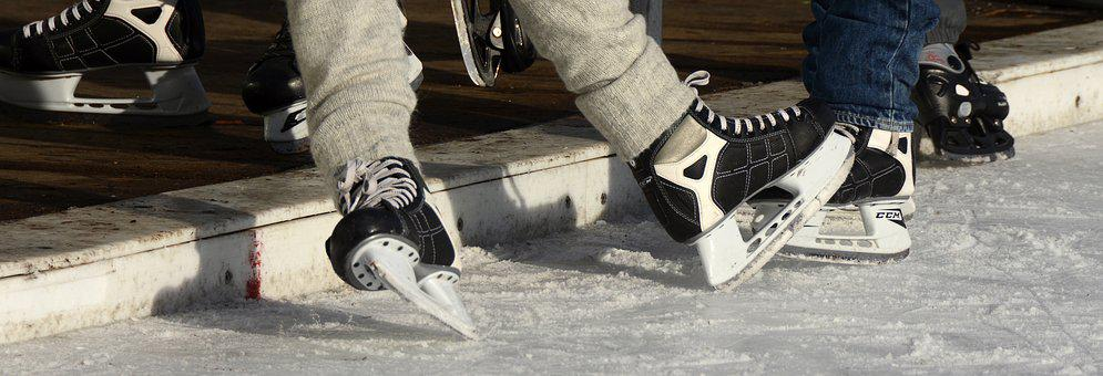 Skates, Drive, Sport, Winter, Cold, Eisfeld