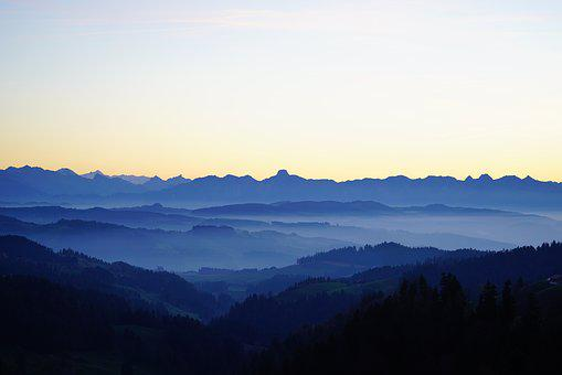 Stockhorn, Nebellandschaft, Bernese Alps, Emmental