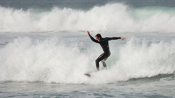 Surfing, Ocean, Surfer, Wave, Male, Water, Surf, Sea