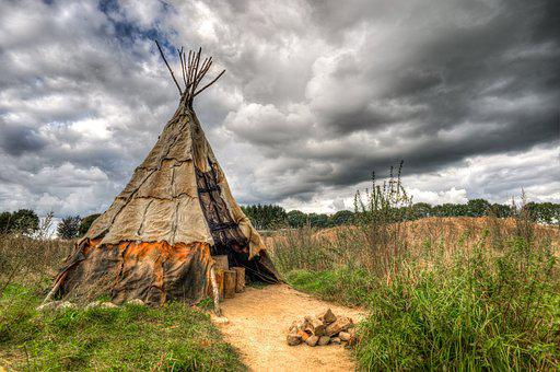 Tipi, Tent, Teepee, Wigwam, Clouds, Hdr