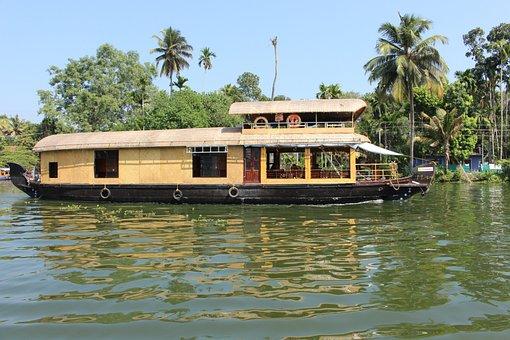 Houseboat, Kerala, Boat House, Boat, Tourism, Backwater