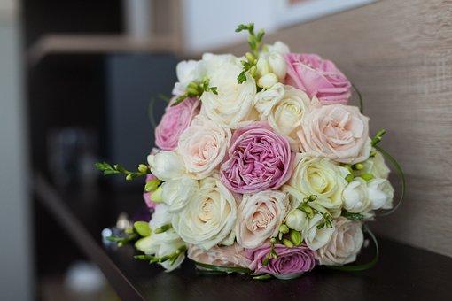 Wedding, Bouquet, Marriage, Bride, White, Bridal, Love