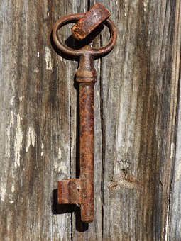 Door, Key, Iron, Wood, Old, Hang The Key