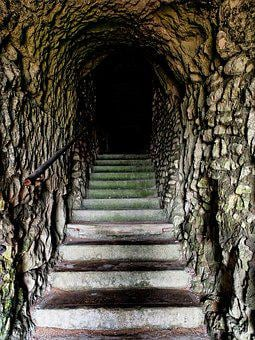 Tunnel, Steps, Dark, Sinister, Unknown, Adventure