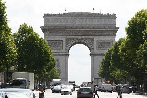 Arc De Triomphe, Paris, France, Champs Elysées