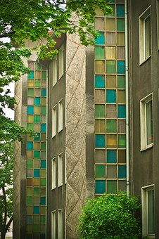 Architecture, Glass Blocks, Building, By Looking, Glass