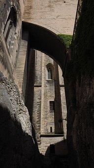 Avignon, Palais Des Papes, Battlement, Passage
