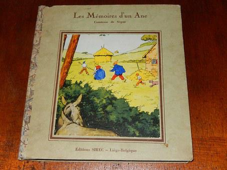 Book, Comic, Children, The Memoirs Of A Donkey