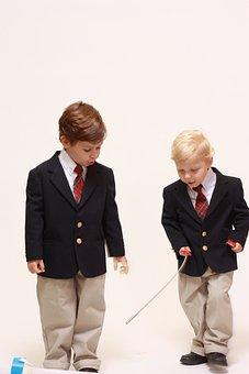 Boy, School, Smiling, Children, Suit, Elementary, Male