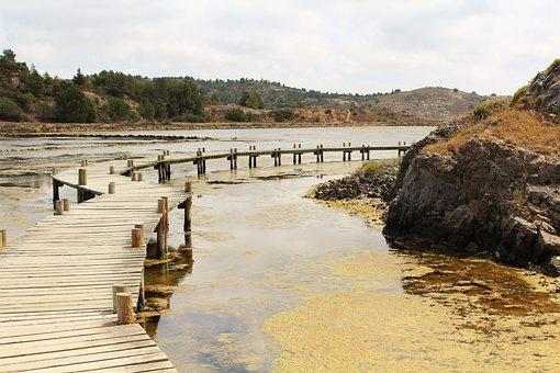 Bridge, Salins, Wooden Bridge, Stilt, Sea Peyriac