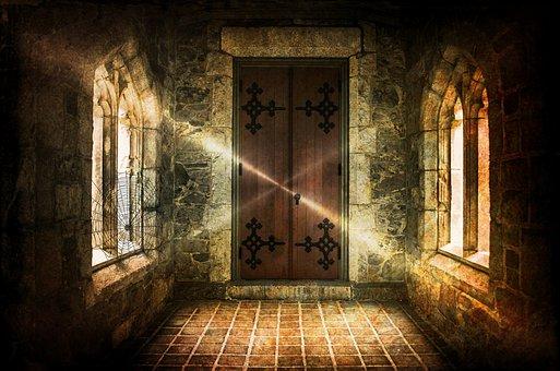 Haunted Castle, Castle, Closed Transition, Gang, Door