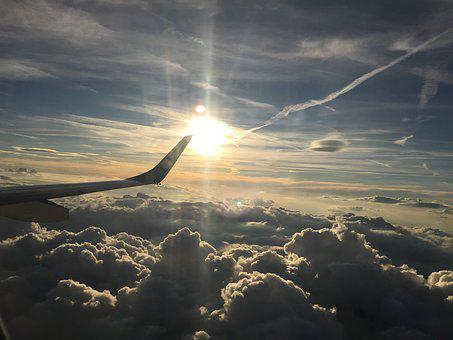Sunset, Airplane, Clouds, Aviation, Tourism, Passenger