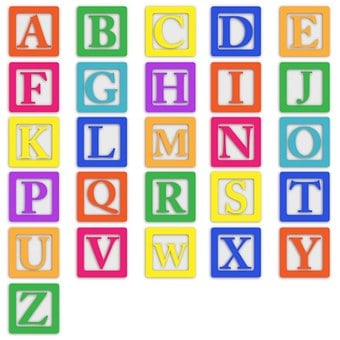Baby Blocks, Alphabet, Abc, Letters, Colourful, Block