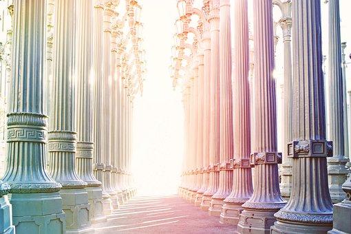 Columnar, Arcade, Architecture, Building