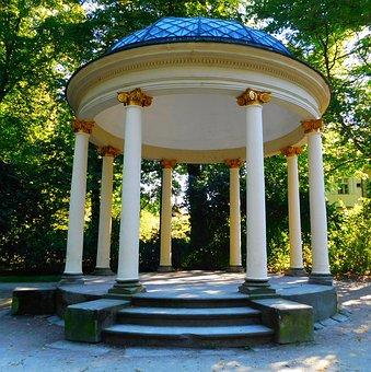 Sun Temple, Courtyard Garden, Park, In The Park