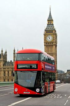 London Bus, England, Britain, Landmark, Big, Ben, Tower