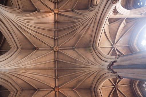Cathedral, Bristol, Nave, Arches, England, Gothic