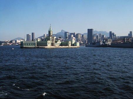 Rio, Skyline, Fiscal Island, Palace, Corcovado