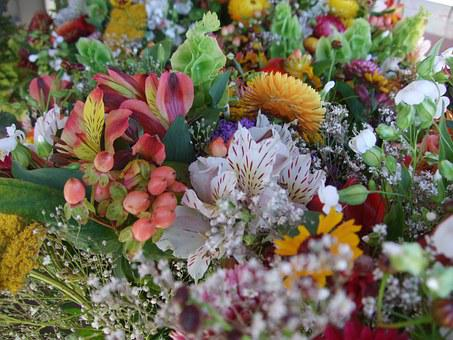 Flowers, Bouquet, Natural, Farmers, Market, Carnations