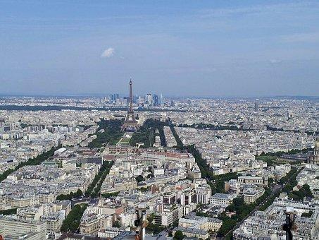 Paris, Outlook, City Views, Tour Eiffel, France