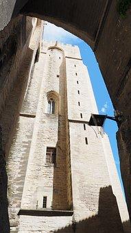 Avignon, Palais Des Papes, Passage, Goal, Wall, High